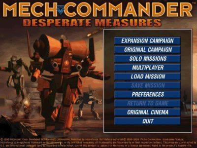 Mech Commander: Gold – Download